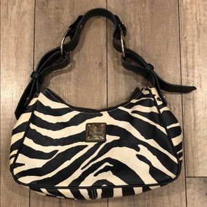 Dooney & Bourke Vintage Zebra Shoulder Bag